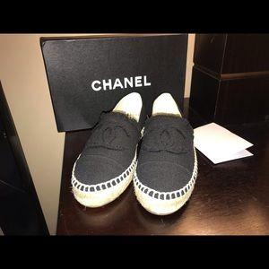 Chanel Black Distressed women's Espadrilles 38
